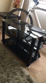 3 tier black tv stand