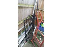 Metal gate and railings for sale. In excellent condition.