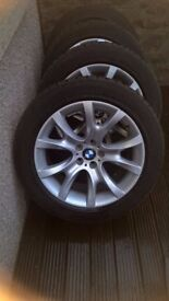 BMW X6 e71 e72 alloy wheels and winter tyres