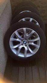 BMW X6 e71 e72 alloy wheels and winter tyres