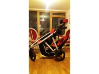 Lightly used Phil & Ted's vibe double buggy in racing red!