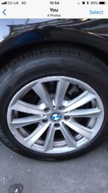 """17"""" wheel and tyre from 5 series bmw."""