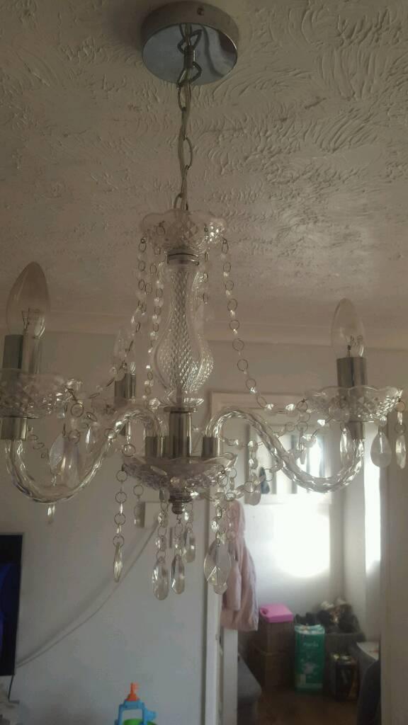 Ceiling light chandelier in clear/silver