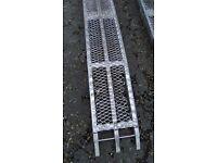 Folding load ramps