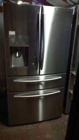 SAMSUNG RF24.... American fridge freezer, with water and ice dispenser.