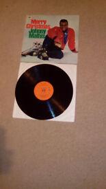 MERRY CHRISTMAS JOHNNY MATHIS-1966-12.INCH VINYL XMAS-LP-(EX+/EX++0