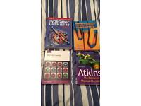 ASSORTED CHEMISTRY TEXTBOOKS FOR SALE