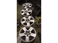 2005 audi a4 set of 4 alloy wheels