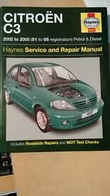 Haynes Citroen C3 manual 2002-2005