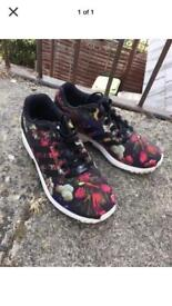 Adidas ZX Flux Adidas ZX Flux Women's Trainers - Oil painting flowers design.