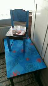 Spider man table and chair