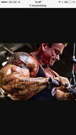 Bodybuilding equipment and vitamins for repair and growth