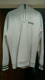 Supreme striped cuff hooded sweatshirt Size Large