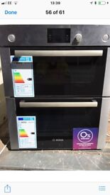 Bosch Built in Brushed Steel Double Electric Oven New and Unused trp £549 !!
