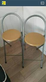 Pair of Foldable Bar Stools
