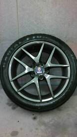 "Genuine Saab 93-95 17"" ALU50 Refurbished Alloy Wheels"