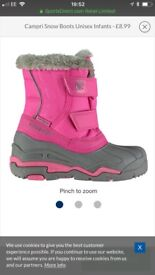 Infant snow boot