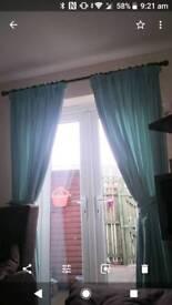 Curtains and tiebacks
