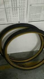 Pair of bicycle tyres 26 1.9 slick