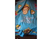 Fireman sam quilt cover, pillow and curtains