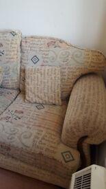 Two seater sofas x 2.