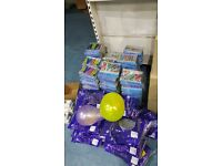 Job lot of 180 boxes of 12 happy birthday signs