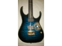 Ibanez RGIX20FEQM Electric Guitar in Sapphire Blue Sunburst