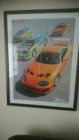 Large fast and furious framed max power poster