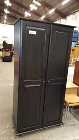 Modern pine painted double wardrobes (priced individually)