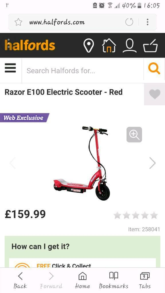 Razor E100 Red electric scooter