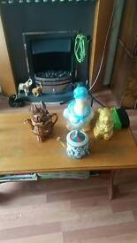 Silybac and teapots and big box of animals