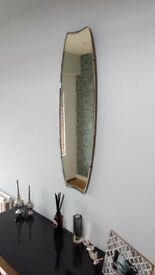VINTAGE WALL MIRROR ANTIQUE WITH BEVELLED EDGE
