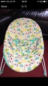 Fisher price bouncer and play gym