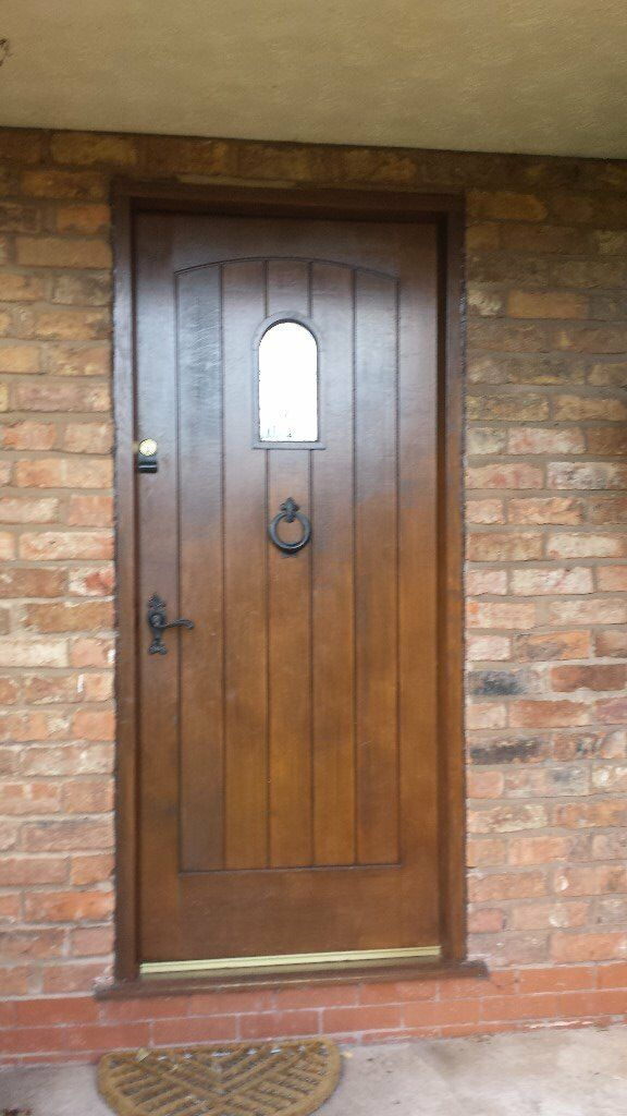 Hard Wood Front Door And Frame With Leaded Light In Frodsham Cheshire Gumtree