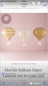 Wedding decor hot air balloon lanterns