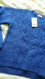 Kid's Blue Winter Wool Top Blouse Next Brand age 10.