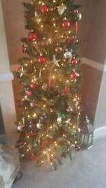 6ft pre-lit artificial Christmas tree