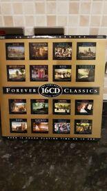 CLASSIC MUSIC FORVEVER CLASSICS 16 CD'S