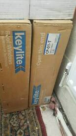 2 keylite roof windows with flashing kit new in box £320