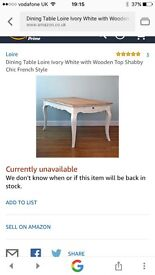 Loire style shabby chic dining table