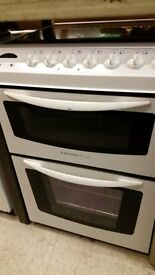 USED ELECTROLUX COOKER- WHITE - DOUBLE OVER/CERAMIC-60CM