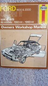 Ford Capri 11 Haynes Car Manual