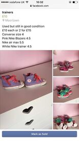 Nike trainers & converse