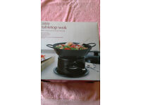 Small Marks and Spencers Table top wok