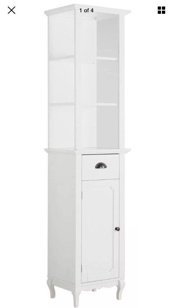 Premier House Ornate Bathroom Furniture Tall Boy Unit Storage