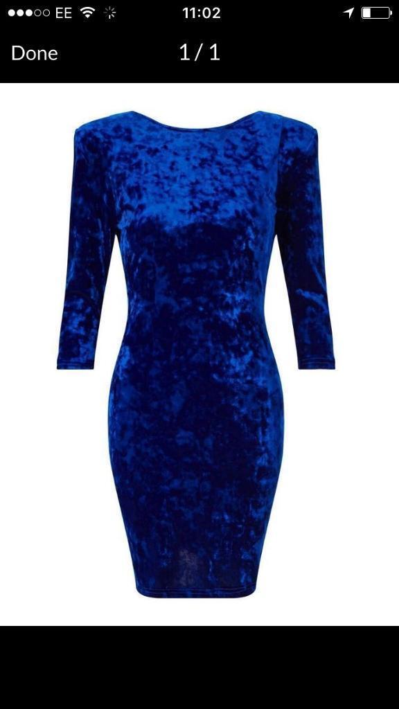 Miss selfridge velvet dress. Perfect for Christmas party
