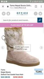 Toms suede nepal boots