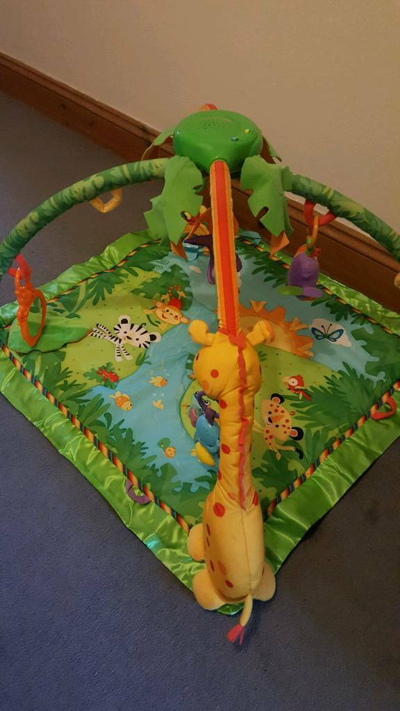 Rainforest sounds and lights playmat