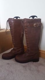 Ariat Coniston Brown Long Country Boots Size 6