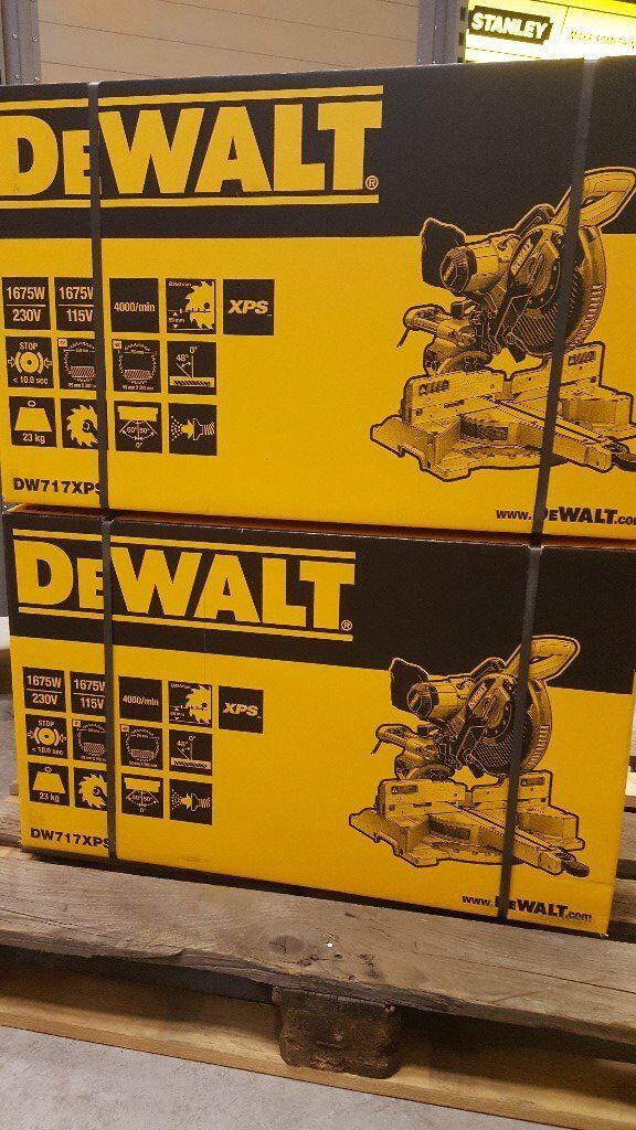 """DEWALT DW717 XPS 10"""" MITRE SAW'S 240V ** Brand NEW**"""